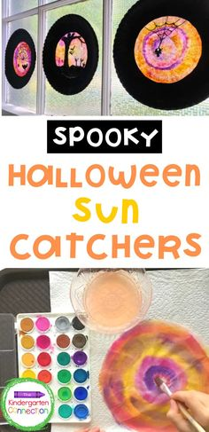 This spooky Halloween sun catcher craft is a fun multi-step project! Each sun catcher is unique and the project is an effective way for students to explore a variety of art materials. These spooky suncatchers would be perfect for adding a bit of spooktacular decor to your home or classroom and they make a great addition to your early childhood education classroom activities this fall! #learningactivities #halloweenactivities #kidscraft #kidscrafts Halloween Crafts For Kids, Halloween Activities, Classroom Activities, Spooky Halloween, Kids Crafts, Autumn Crafts, Holiday Crafts, Student Crafts, Friend Crafts