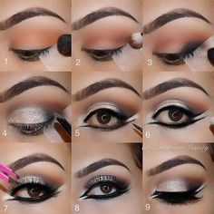 Eye makeup will improve your natural beauty and make you look fabulous. Find out the way in which to begin using make-up so that you can show off your eyes and stand out. Discover the top ideas for applying make-up to your eyes. Pretty Eye Makeup, Makeup Looks For Brown Eyes, Simple Eye Makeup, Love Makeup, Eye Makeup Steps, Makeup Tips, Beauty Makeup, Makeup Ideas, Makeup Geek