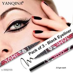 Checkout this latest Eyeliners Product Name: *YANQINA 36H Waterproof Eyeliner Pencil Liquid Makeup Beauty Cosmetics Precision Liquid Eyeliner* Product Name: YANQINA 36H Waterproof Eyeliner Pencil Liquid Makeup Beauty Cosmetics Precision Liquid Eyeliner Brand Name: Yanqina Shade: Black Type: Pencil Multipack: 3 Country of Origin: India Easy Returns Available In Case Of Any Issue   Catalog Rating: ★4 (414)  Catalog Name: Free Gift Premium Choice Waterproof Pen Eyeliner Vol 1 CatalogID_562281 C178-SC1967 Code: 202-3982109-054