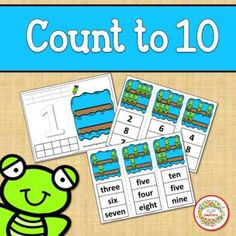 Count 1 to 10 - How Many Frogs on a Log Counting Activity Package by Sweetie's Number Words Worksheets, School Reviews, Learn To Count, Counting Activities, Learning Resources, Math Lessons, Math Centers, Frogs, Second Grade