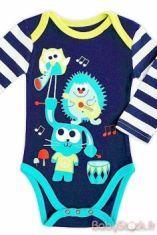 Body bleu et turquoise HAPPY MUSIC de PETIT BEGUIN