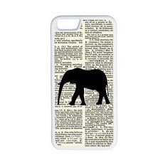 CellPowerCasesTM Vintage Elephant iPhone 6 (4.7) Protective V1 White... ($13) ❤ liked on Polyvore featuring accessories, tech accessories and white