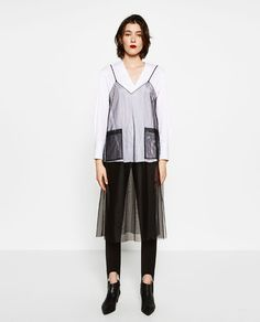 Image 1 of TULLE OVERSHIRT from Zara