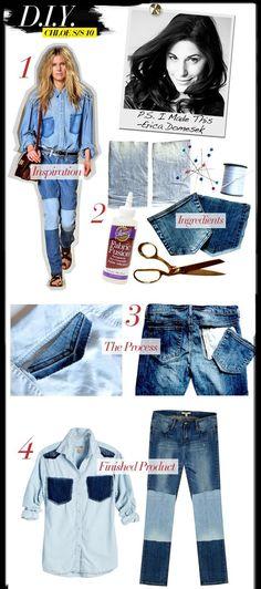 DIY Clothes DIY Crafts DIY Two-Tone Denim Shirt and Jeans
