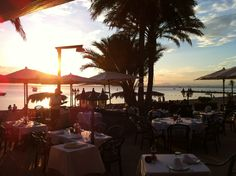 Puesta de sol en Restaurante Escuela de Pieter de La Manga