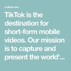 TikTok is the destination for short-form mobile videos. Our mission is to captur. TikTok is the destination for short-form mobile videos. Our mission is to capture and present the w Foto Jimin, Short Form, Mobile Video, Do You Like It, Cute Love Quotes, Life Moments, Photo Instagram, Live In The Now, The Creator
