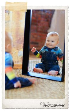 Baby shoot inspiration. Love mirror pics! the things you can get from just a reflection :]