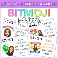 Levels of Understanding Bitmoji PostersDisplay these posters in your classroom and use them to reinforce growth mindset and to check for understanding as a quick and easy AFL. EASY INSTRUCTIONS:- Create and save your Bitmoji- Insert your Bitmoji (using the PPT provided)- Print & GO!Product inclu... Science Classroom, Classroom Themes, Classroom Organization, Classroom Management, Classroom Displays, Future Classroom, School Classroom, Classroom Helpers, Formative And Summative Assessment