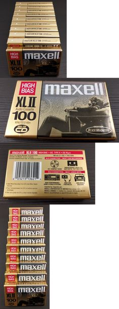 Audio Tapes: Maxell Xlii 100 High Bias Iec Type Ii - 10 Cassette Tapes - Black Magnetite New -> BUY IT NOW ONLY: $59.99 on eBay!