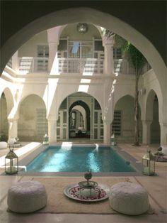 20 Romantic honeymoon hotels for the perfect getaway Indoor Courtyard, Modern Courtyard, Rooftop Terrace, Medina Morocco, Marrakech Morocco, Moroccan Design, Moroccan Decor, Moroccan Style, Moroccan Spices