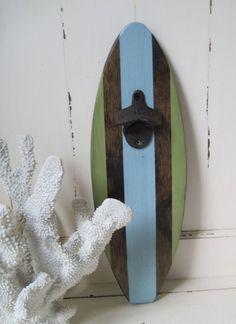 Surboard Wall Mount Bottle Opener
