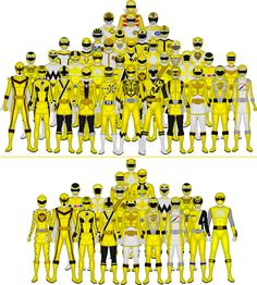 **1/25/16 with Zyuoh Eagle!** This is a group shot of every red warrior from the Super Sentai franchise I've made in pixels, all 39 of them! And now I've arranged them in a more fitting pyramid sha...