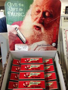 Be like Santa, give the gift of music: #Hohner #Harmonicas, only $14.99!   Please call 888-780-1812 to order or stop by one of our stores in So. Cal http://www.bertrandsmusic.tumblr.com/info