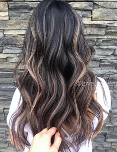 Smoky sun-kissed balayage brunette hair color with highlights, hair highlights, brown hair Ash Ombre Hair, Brown Hair Balayage, Hair Highlights, Reverse Balayage, Balayage Brunette, Brunette Hair, Natural Dark Hair, Dimensional Hair Color, Mushroom Hair