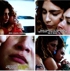 """#The100 4x06 """"We Will Rise"""" - Luna and Raven"""