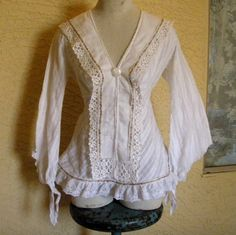 Bohemian Peasant Blouse Recycled Vintage by SweetRepeatVintage, $37.00