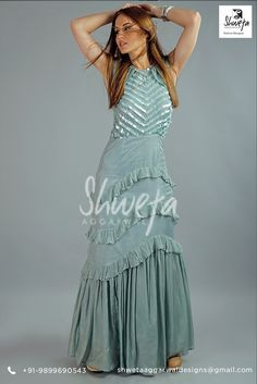 """""""Style is a way to say who you are without having to speak""""The Spectacular Colour with daywondering design can grab the attention in your KittySu get-togethers ………so don't think!!!! Get this dress custom made in any colour in your exact size. Place your order here: https://www.facebook.com/shwetaaggarwalfashiondesigner/ 👗  #star #fashiongoals #beautiful #adorable #gorgeous #glam #lovely #instalike #sweet #fashion #style #beauty #elegance #pretty"""