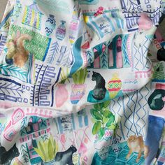 All our fabric samples are approximately in size and cut at random from the selected fabric.If you are looking for a specific colour within the design, please get in touch and we will do our best to help. Cat Fabric, Floral Fabric, Bluebellgray, Conversational Prints, Modern Prints, Fabric Samples, Feel Good, Fabric Design, Printing On Fabric