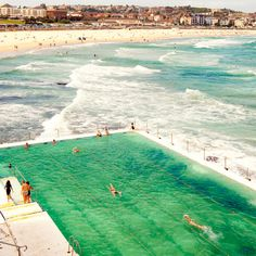 "This image was taken at Bondi Icebergs in Sydney NSW, along with another image, ""Day at the Beach"". Pretty amazing spot to swim with waves crashing on top of you. Love this place."