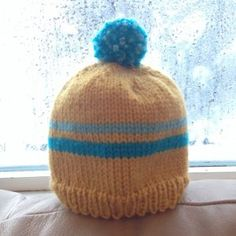 Retro Baby Ski Hat AllFreeKnitting.com - Free Knitting Patterns, Knitting Tips, How-To Knit, Videos, Hints and More!
