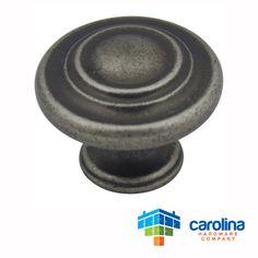 "Cabinet Hardware 3-Ring Round Knob 1-1/4"" Diameter"