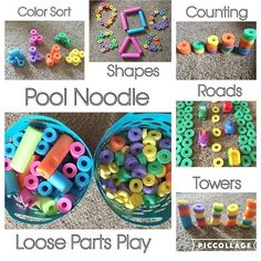 Pool Noodle Loose Parts {We absolutely love our pool noodle blocks! There are so many different ways to play with them and they are perfect for babies all the way up to mommies!;) Happy Block Week!!} . . . . #earlylearning101 #earlylearning #earlyeducation #preschoolactivities #toddleractivities #toddleractivity #preschoolactivity #babyactivity #babyactivities #babyfun #babyplay #toddlerfun #toddlerplay