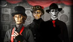 the boys from Steam Powered Giraffe, definite hunks!