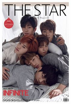 INFINITE are sleepy boys on the cover of 'The Star'   allkpop.com