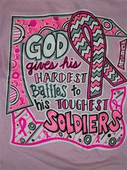 Southern Chics Funny God Gives Battles Breast Cancer Pink Ribbon Girli | SimplyCuteTees