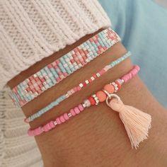 Mint15 armbanden set - baby blue, pink en zilver - available via www.capricci.nl | #armbandenset #armbanden #set #beads #bracelets #armparty #armcandy #zilver #tassel #mint15 #capricci #capricci.nl