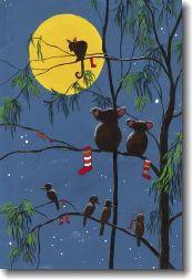 Christmas Cards in Australia----Australian Christmas Tree.