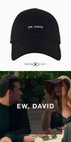 buy the EW, DAVID dad hat by loma and pier hat store David Cross, Black Dad, Hat Stores, Schitts Creek, Dad Quotes, Hat Shop, Dad Hats, Baseball Hats, Dads