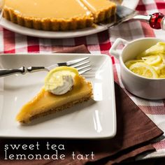 If you love everything lemon--especially lemon pie and lemon cake--then you should try this Sweet Tea Lemonade Tart. Inspired by Arnold Palmer's famous half and half drink, this yummy summer dessert is both sweet and tart.