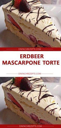 Strawberry Mascarpone Cake 😍 😍 😍 - Strawberry Mascarpone Cake 😍 😍 Ÿ . - Strawberry Mascarpone Cake 😍 😍 😍 – Strawberry Mascarpone Cake 😍 😍 😍 – C - Italian Cookie Recipes, Italian Cookies, Italian Desserts, Pastry Recipes, Banana Dessert Recipes, Banana Bread Recipes, Mascarpone Cake, Sweet Party, Flaky Pastry