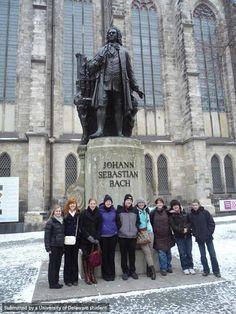 """Not even the cold weather could deter us from going to a church service in Bach's church!""--Global Study Ambassador Alexis, FLLT program in Germany"