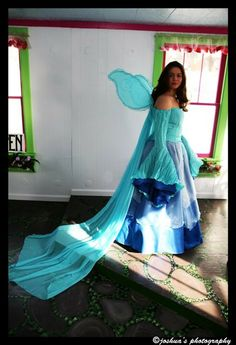 Water Faerie Wedding Gown by SomethingNewCreation on Etsy,