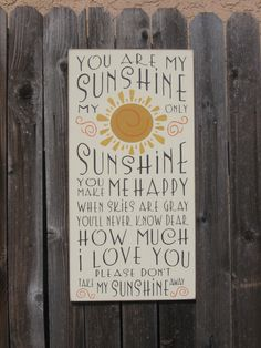 You Are My Sunshine,nursery decor,childs room decor,childs wall decor,bathroom decor,primitive wood sign,wood sign,rustic wood sign,country by PattisCtryWoodcraft on Etsy https://www.etsy.com/listing/234985770/you-are-my-sunshinenursery-decorchilds