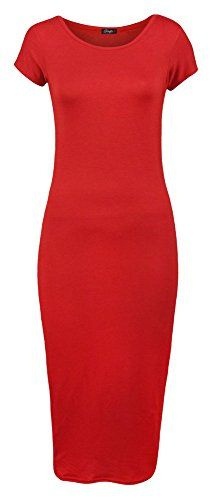 Forever Womens Plain Cap Sleeves Bodycon Midi Dress ** Check this awesome image @ http://www.amazon.com/gp/product/B00VA2HBTU/?tag=passion4fashion003e-20&qr=250716074257