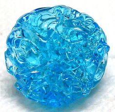 ANTIQUE LACY VENETIAN BLUE TOPAZ SPUN SUGAR SEMI-HOLLOW GLASS BUTTON in Antiques, Sewing (Pre-1930), Buttons | eBay