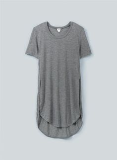 Aritzia Wilfred CAPUCINE t shirt size XS small gray tulip split side