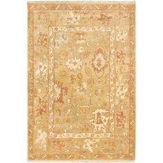 ecarpetgallery Royal Ushak Beige Wool Rug (6'1 x 9') (Beige Khaki Rug (6' x 9')), Size 6' x 9' (Cotton, Oriental)
