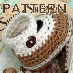 baby booties with ankle straps - crochet pattern