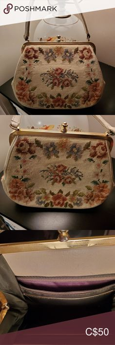 Vintage Handbag Stunning needle point handbag in amazing condition Vintage Bags Shoulder Bags Vintage Bags, Vintage Handbags, Vintage Ladies, Plus Fashion, Fashion Tips, Fashion Trends, Needlepoint, Shoulder Bags, Amazing