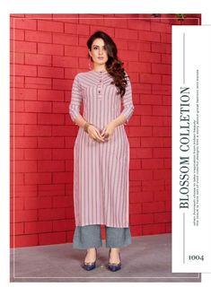 Simple Kurta Designs, Kurta Designs Women, Latest Kurti Designs, Ladies Kurti Design, Printed Kurti Designs, Churidar Designs, Dress Neck Designs, Designs For Dresses, Indian Designer Outfits