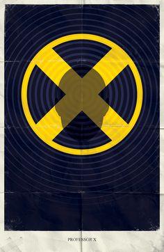 Pósteres minimalistas de Marvel Comics