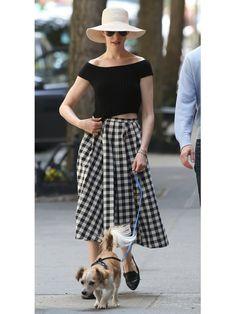 【ELLE】まるでオードリー!アン・ハサウェイの'50sファッション|エル・オンライン