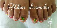 Uñas de pies Finger Nails, Polish Nails, Pedicures, Feet Nails, Nail Manicure, Hands, Hairdos