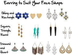 earrings to suit your face shape