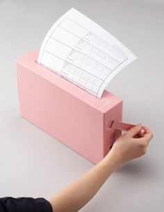 Shredding paper definitely just got cute! A Minimalist, Manual Paper-Shredder For The Home Office - Pink, Blue, White Grey to many choices!