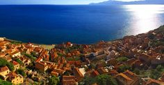 Top view panoramic  #instagood #instaview #greece #sunny #blue #panorama